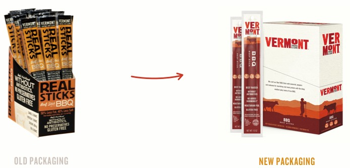 Vermont Smoke & Cure Real Sticks Meat Sticks BBQ Beef