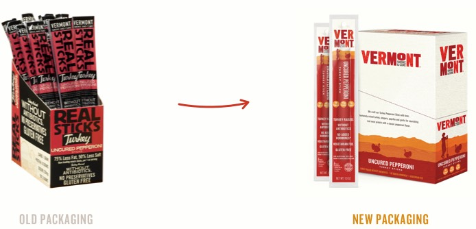 Vermont Smoke & Cure Real Sticks Meat Sticks Uncured Pepperoni